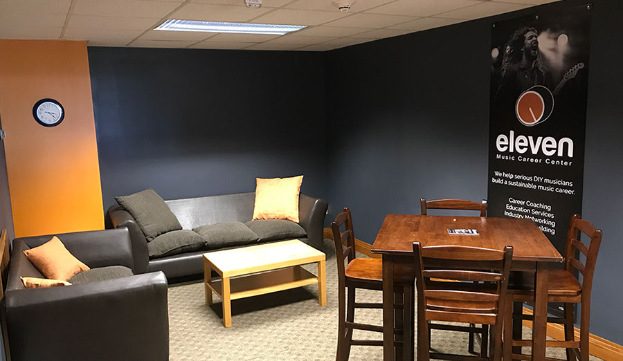 Eleven Music Coworking Space and Lounge in Madison, Wisconsin