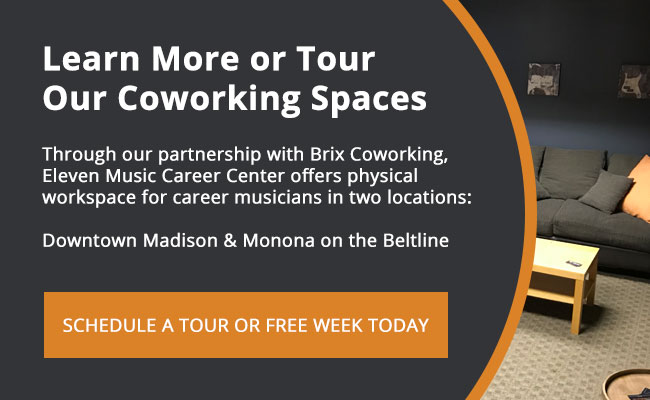 Learn more about Eleven's Music Coworking Space